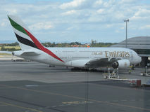 Airbus A380 of the Emirates airlines Stock Photos