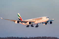 Airbus a340-500 Emirates Airlines Royalty Free Stock Image