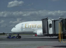 Airbus A380 of the Emirates airlines Royalty Free Stock Photos
