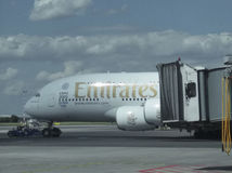 Airbus A380 of the Emirates airlines Royalty Free Stock Photo