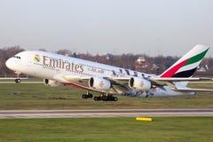 Airbus A380 Emirates Stock Photos