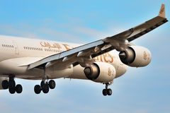 Airbus a340-500 Emirates Royalty Free Stock Photography