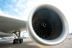 Airbus engine at the Singapore Airshow 2014 Stock Photo