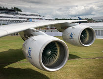 Airbus A380 engines Royalty Free Stock Images