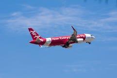 Airbus A320 entfernen sich Lizenzfreie Stockfotografie