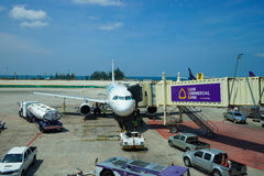 Airbus entrou no aeroporto Fotografia de Stock Royalty Free