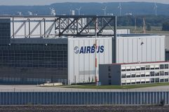 Airbus Factory Royalty Free Stock Photo