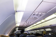 Airbus A320 Family's spacious cabin include wider seats for unmatched passenger comfort Royalty Free Stock Image