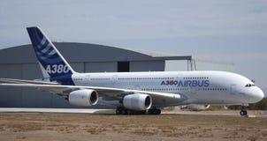 Airbus a380 FIDAE immagine stock libera da diritti
