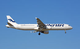 Airbus A-321 Finair Foto de Stock Royalty Free