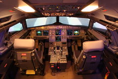 Airbus flight deck Stock Image
