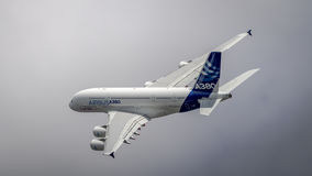 Airbus A380 in flight Royalty Free Stock Photos