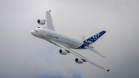 Airbus A380 in flight Royalty Free Stock Images