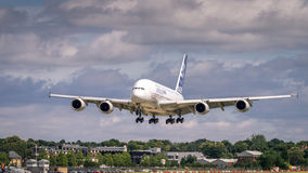 Airbus A380 in flight Royalty Free Stock Photo