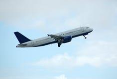 Airbus-Fluggastzwischenlage Stockfotos