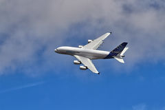 Airbus A380 on flypast at a UK airshow Stock Photography