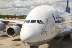 Airbus A380 in Frankfurt Royalty Free Stock Photo