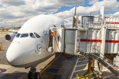 Airbus A380 in Frankfurt Stock Image