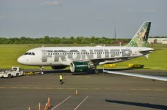 An Airbus A319 from Frontier Airlines Royalty Free Stock Photo