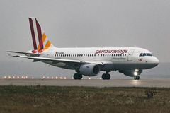 Airbus A319-100 Germanwings Airlines at airport Stock Photo