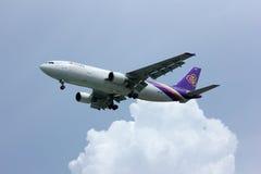 Airbus a300 HS-TAZ thaiairway Fotografia de Stock Royalty Free