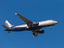 Airbus A320, I Kruzenshtern Stockfotos