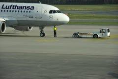 Airbus incrementou para trás a partida Fotos de Stock Royalty Free