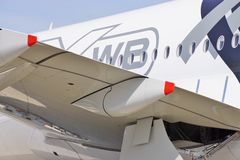 An Airbus A350 jet airplane Royalty Free Stock Image