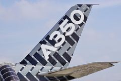 An Airbus A350 jet airplane Royalty Free Stock Photography