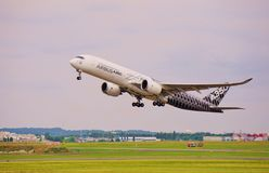 An Airbus A350 jet airplane Royalty Free Stock Photos