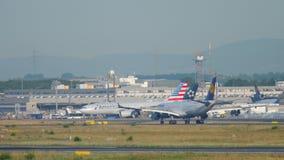 Airbus 340 landing stock footage