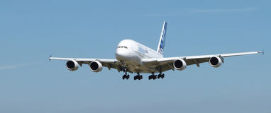 Airbus A380. With landing gear down Stock Photography