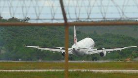 Airbus 321 landing at Phuket airport stock video
