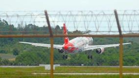 Airbus 320 landing stock video footage