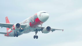Airbus 320 landing stock video