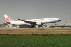 A airbus 330 landing on the runway Royalty Free Stock Photo