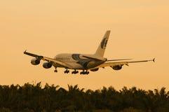 Airbus A380 Landing Stock Image