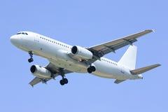 Airbus A320-200. Landing shot, photo at chiangmai Aitport royalty free stock images