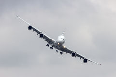 Airbus A380 landing Stock Images