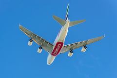 Airbus A380 - les plus grands avions de transport de passagers du monde Images stock