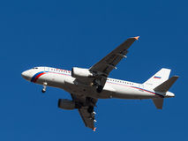 Airbus A-319, linhas aéreas do russo Imagens de Stock Royalty Free
