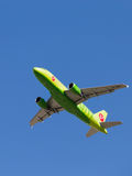 Airbus A319-115LR S7 Airlines Imagem de Stock Royalty Free