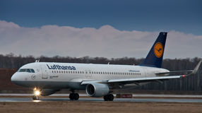 Airbus A319 Lufthansa Royalty Free Stock Images