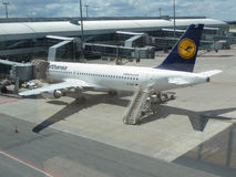 Airbus A320-214 of Lufthansa in Prague Stock Images