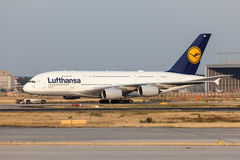 Airbus A380-800 of the Luftnahsa Airline Royalty Free Stock Photo