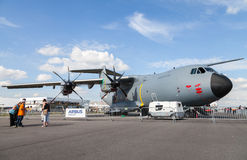 Airbus  a 400 m  on berlin air show Stock Photography