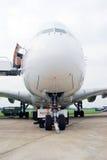 Airbus A380 an MAKS-2013 Stockfotografie