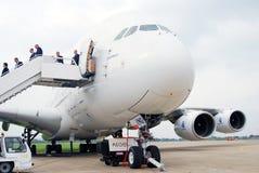 Airbus A380 an MAKS-2013 Lizenzfreie Stockfotografie
