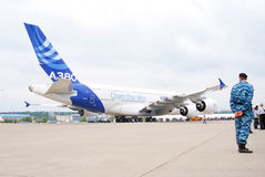 Airbus A380 an MAKS-2013 Stockbilder