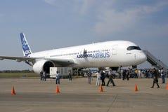 Airbus A350 at MAKS International Aerospace Salon Royalty Free Stock Photo